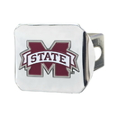 Fanmats 22707 Mississippi State University Color Hitch Chrome 3.4