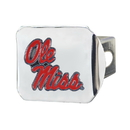 Fanmats 22709 University of Mississippi (Ole Miss) Color Hitch Chrome 3.4