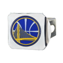 Fanmats 22729 NBA - Golden State Warriors Color Hitch Chrome 3.4