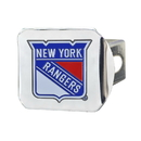 Fanmats 22779 NHL - New York Rangers Color Hitch Chrome 3.4