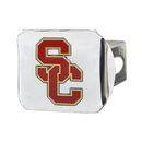 Fanmats 22821 University of Southern California Color Hitch Chrome 3.4