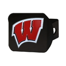 Fanmats 22854 University of Wisconsin Color Hitch Black 3.4