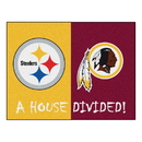 Fanmats 22974 NFL House Divided - Steelers/Redskins House Divided Rug 33.75