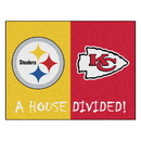 Fanmats 23095 NFL - Steelers - Chiefs House Divided Rug 33.75