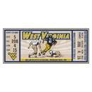 Fanmats 23153 West Virginia University Ticket Runner 30