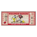 Fanmats 23155 University of Wisconsin Ticket Runner 30