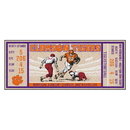 Fanmats 23182 Clemson University Ticket Runner 30