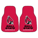 Fanmats 5188 Ball State 2-pc Carpeted Car Mats 17