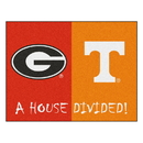 Fanmats 6031 Georgia - Tennessee House Divided Rug 33.75