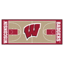 Fanmats 8176 Wisconsin Basketball Court Runner 30