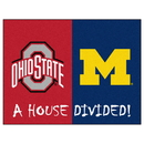 Fanmats 8460 Ohio State - Michigan House Divided Rug 33.75