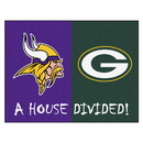 Fanmats 8462 NFL - Vikings - Packers House Divided Rug 33.75