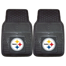 Fanmats 8752 NFL - Pittsburgh Steelers 2-pc Vinyl Car Mats 17