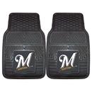 Fanmats 8842 MLB - Milwaukee Brewers 2-pc Vinyl Car Mats 17