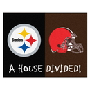 Fanmats 9578 NFL - Steelers - Browns House Divided Rug 33.75