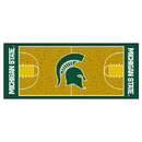 Fanmats 9960 Michigan State Basketball Court Runner 30