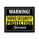 Streetwise Security Products SP102-SGN Defender Indoor Video Security System Warning Sign w/Stickers