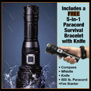 Streetwise Security Products T102PRO2 Wuben 3500 Lumen Flashlight w/Survival Bracelet