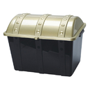 S&S Worldwide Plastic Treasure Chest with Lid, Gold/Black
