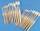 S&S Worldwide White Bristle School Brushes