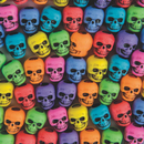 Beadery Assorted Color Skull Beads 1/4 lb Bag