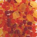 S&S Worldwide Sea Glass Bead Assortment, Burning Sun