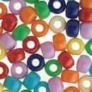 S&S Worldwide Jumbo Pony Bead Mix 1-lb Bag