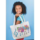 Color-Me Medium Tote Bag with Gusset
