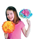 S&S Worldwide Jumbo Tissue Flower Craft Kit