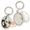 Solid Oak Personalized Key Rings