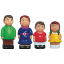Caucasian Family Play Figures