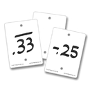 Empty Number Line Blank Cards