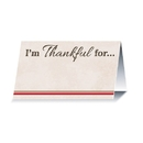 Beistle I'm Thankful For Harvest Seating Place Card