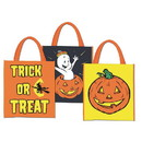 Halloween Trick or Treat Plastic Bags (Pack of 12)