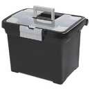 Sterilite Portable File Storage Box with Handle