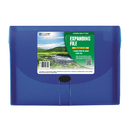C-Line Biodegradable Blue 7-Pocket Expanding File, Letter Size
