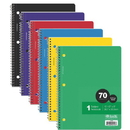 Bazic Products 1-Subject College Ruled Spiral Notebooks Value Pack