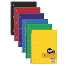 Bazic Products 3-Subject Wide Ruled Spiral Notebooks Value Pack