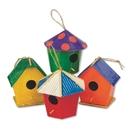 S&S Worldwide Paper Mache Mini Birdhouses