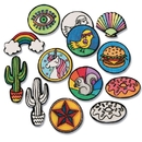 S&S Worldwide Velvet Art Iron-On Patches to Color