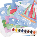 Watercolor Paint-By-Numbers Craft Kit