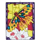 S&S Worldwide Stain-A-Frame Set - Butterfly Scene