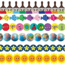 Hygloss Products Colorful Smiles Border Trim Assortment (pack of 6)