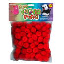 Pepperell Red Pom Poms, 1/2
