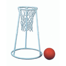 S&S Worldwide Deluxe Plastic Floor Basketball Set