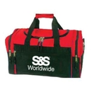 S&S Worldwide Compact Duffel Bag, Red/Black with S&S Logo