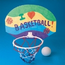 Color-Me Basketball Hoop Craft Kit Without Markers
