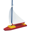 S&S Worldwide Unfinished Wooden Sailboat, Unassembled