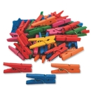 S&S Worldwide Tiny Spring Clothespins, Colored