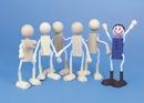 S&S Worldwide Unfinished Posable Wood Dolls